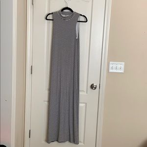 Maxi striped black and white dress